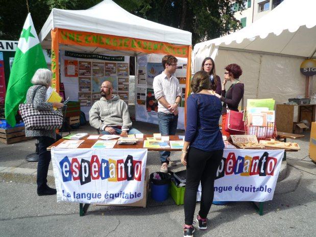 L'espéranto à Alternatiba Genève / Esperanto-budo dum festego en Ĝenevo,Svislando